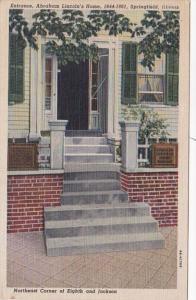 Illinois Springfield Abraham Lincoln's Home Entrance Curteich