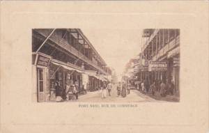 Egypt Port Said Rue De Commerce Main Business Section Street Scene
