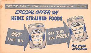 Advertising Post Card Heinz Coupon 1947