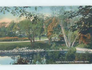 Unused Divided-Back PARK SCENE Rochester Minnesota MN hk8854