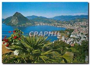 Postcard Modern Monte Bre Vista sul Lago di Lugano e Monte S Salvatore