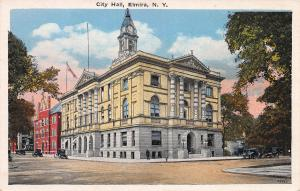 City Hall, Elmira, New York, Early Postcard, Unused