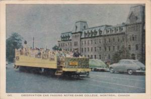 Canada Montreal Observation Car Passing Notre-Dame College 1945