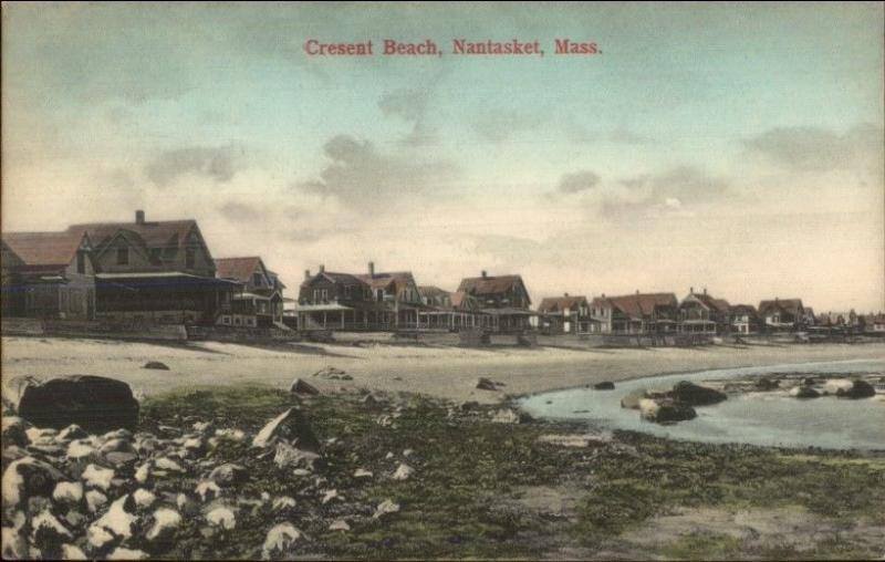 Nantasket Beach Ma Crescent Homes C1910 Postcard