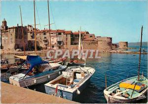 Postcard Modern Saint Tropez Var Pouncho and two old towers Fishing Boat
