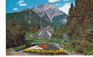 Canada Alberta Banff Cascade Mountain Banff From The Cascade Rock Gardens