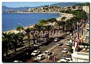 Modern Postcard Cannes Riviera French Riviera Croisette Deep