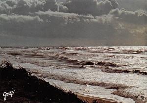 France Landes La Cote d'Argent Sea Landscape Clouds 1986