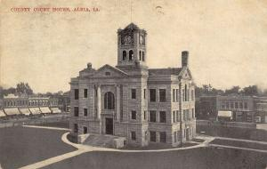 Albia Iowa~Monroe County Court House~Businesses on Square~1908 Postcard