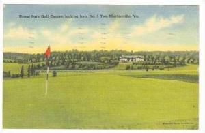 Forest Park Golf Course,No.1 Tee,Martinsville,VA,1942