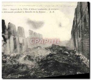 Postcard Old Face of the City & # 39Albert bombed and destroyed by the German...