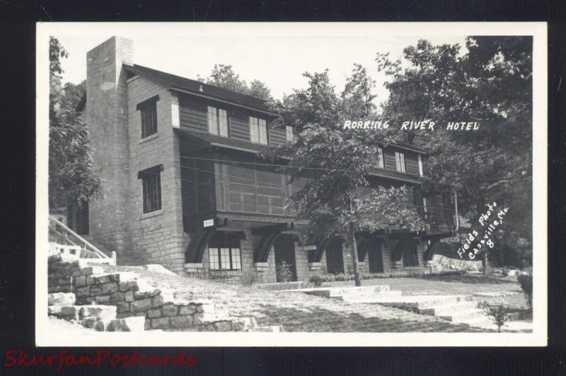 Rppc Cville Missouri Fields Real Photo Postcard Roaring River Hotel Park Mo
