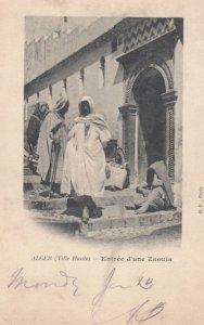 ALGER (Ville Haute) - Entree d'une Zaouia , 1902