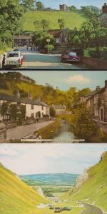 Castleton Castle Street River Styx Winnats Pass 3x Yorkshire 1970s EX Postcard s