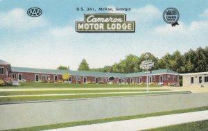 McRAE, Georgia, 1950-60s; Cameron Motor Lodge, U.S. 341