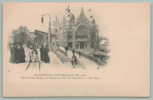 Paris France~Universal Expo~Mobile Platform~Invalids Bridge Station~Postcard