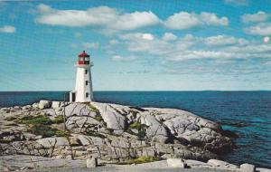 The Lighthouse at Peggy's Cove, Nova Scotia, Canada, 40-60´s