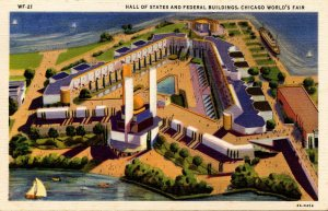 IL - Chicago. 1933 World's Fair, Century of Progress. Hall of States and Fede...