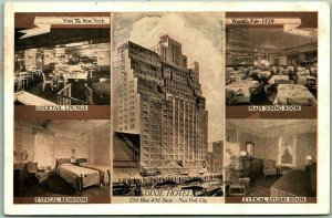 1938 NYC Postcard DIXIE HOTEL Multi-View Visit the New York World's Fair 1939