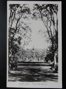 Argentina: BUENOS AIRES Plaza San Martin - Old Real Photograph Postcard