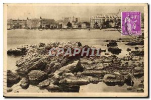 Postcard Old French Riviera Cannes Alpes Maritimes seen them Hotels Palm Beac...