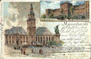 Marktplatz mit Rathaus Mannheim Germany 1900 Missing Stamp