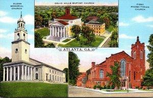 Georgia Atlanta Glenn Memorial Church Druid Hills Baptist Church & First Pres...