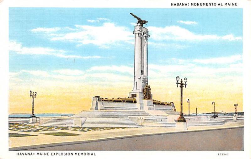 Habana Cuba, Republica de Cuba Monumento al Maine Habana Monumento al Maine
