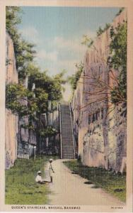 Bahamas Nassau Queen's Staircase Curteich