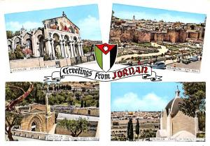 Jordan Old Vintage Antique Post Card City Wall, Church of the Virgin Mary...