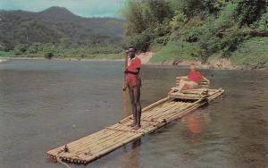 Rafting on the Rio Grande near PORT ANTONIO, Jamaica, 40-60s