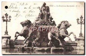 Old Postcard Lyon Fontaine Bartholdi