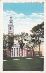 Allen Chapel, University Of Vermont, Burlington, Vermont, 1910-1920s