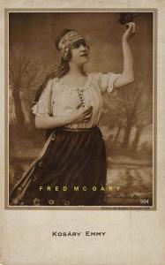 1910 Hungary Real Photo Postcard: Opera Diva & Film Actress Kosáry Emmy