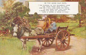 Children in Horse Cart. In the good old days Nice vintage Valentine postcard