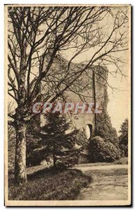 Old Postcard Chateau Domfront dungeon Ruins
