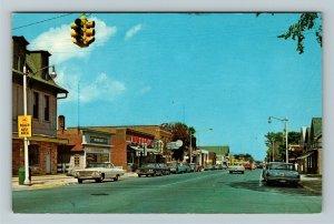 Rogers City MI- Michigan, North Third Street, Vintage Chrome Postcard