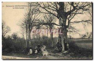 Old Postcard Tree surroundings Chateauneuf in Thymerais Lorette Oak
