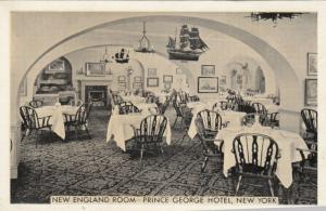 Prince George Hotel , NEW YORK CITY, 1930s ; New England Room