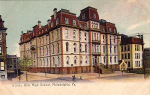 PHILADELPHIA, Pennsylvania, 1900-1910s; Girls High School