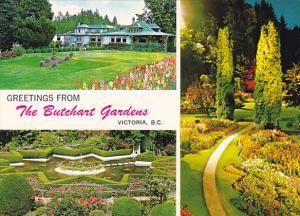 Greetings From The Butchert Gardens Victoria British Columbia Canada
