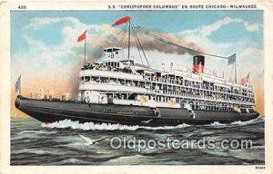 SS Christopher Columbus Milwaukee, WI USA Ship Unused
