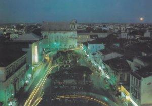 Salvador Minster Square at Night Illuminations Brazil Postcard