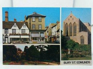 Vintage Postcard Bury St Edmunds Multiview L J Leeson Son & Burdon Chemists