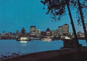 Canada Vancouver Evening Skyline British Columbia