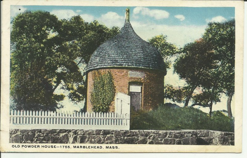 Old Powder House, 1755, Marblehead Mass
