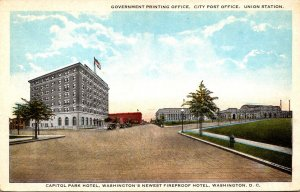 Washington D C The Government Printing Office CIty Post Office and Union Stat...
