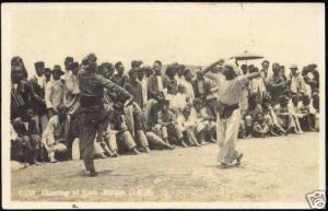 indonesia SUMATRA, Dancing Karo BATAK Natives 1935 RPPC