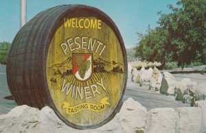 TEMPLETON, California, 1940-60s; Entrance to Presenti Winery and Tasting Room...