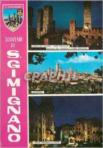Postcard Modern S Gimignano (Siena) Overview